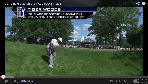 Top 10 Hole Outs Of 2013