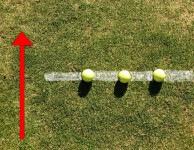 strike with ground balls on line