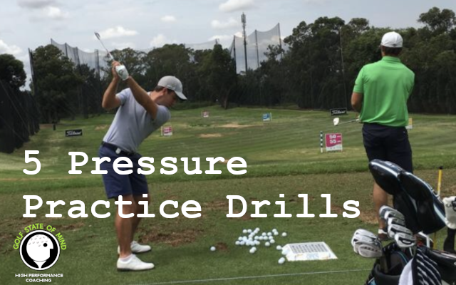 Pressure Practice Drills For Golf